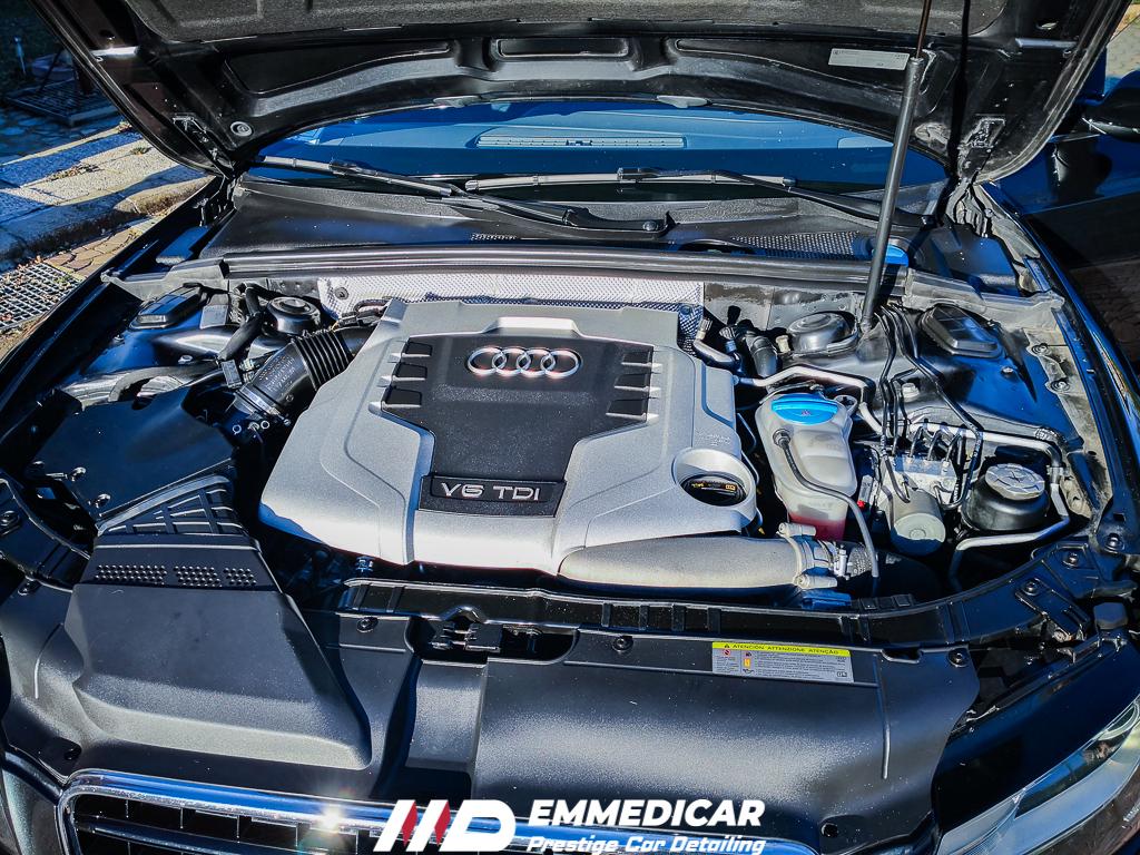 AUDI A5 3.0TDI, VANO MOTORE CAR DETAILING