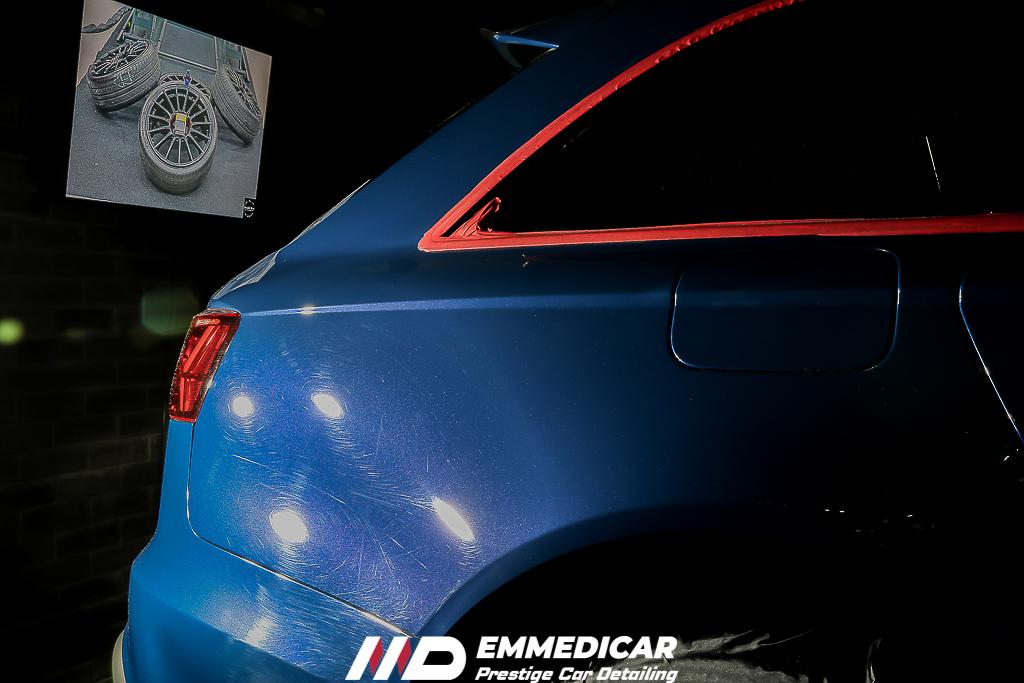 AUDI RS6, rimozione swirls