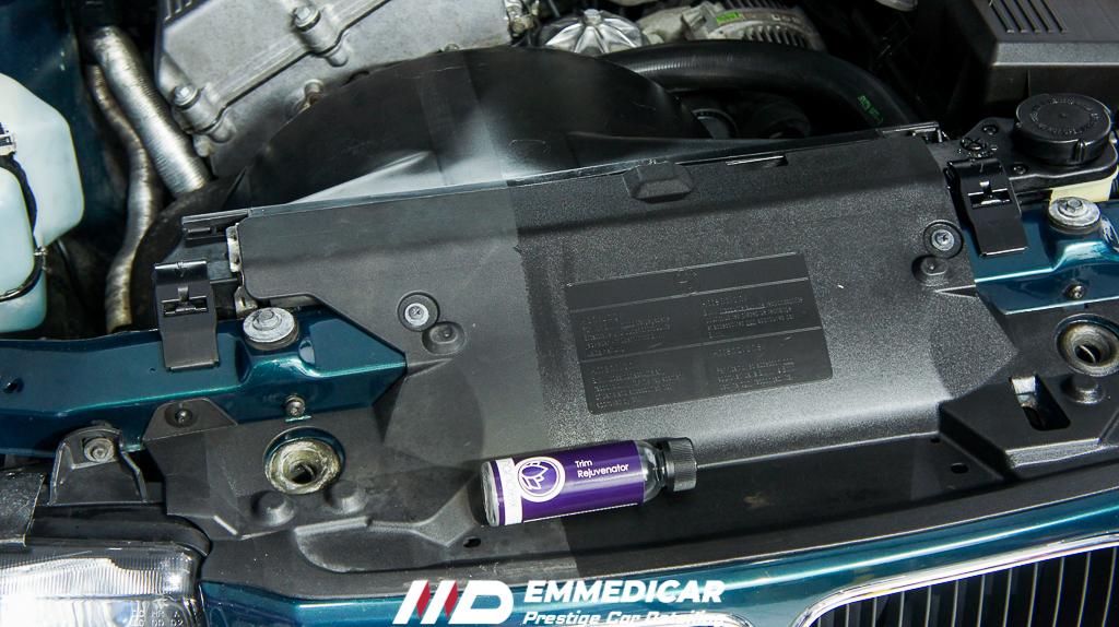 bmw 318 is, rinnovo plastiche vano motore