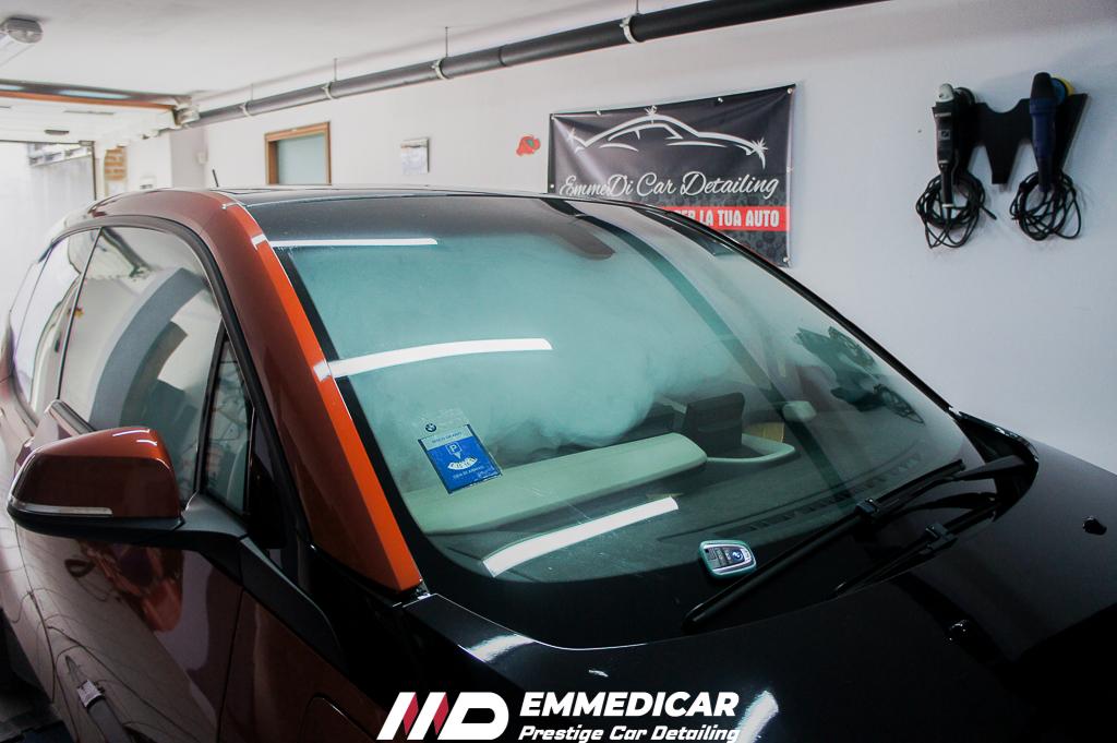 bmw i3, sanificazione interni auto
