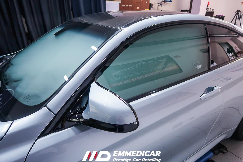 BMW M4, sanificazione auto