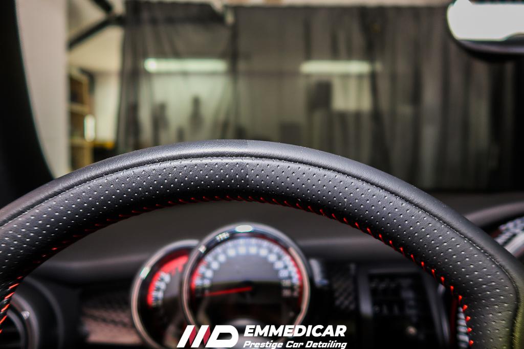 BMW MINI COOPER S JCW, trattamento pelle auto,