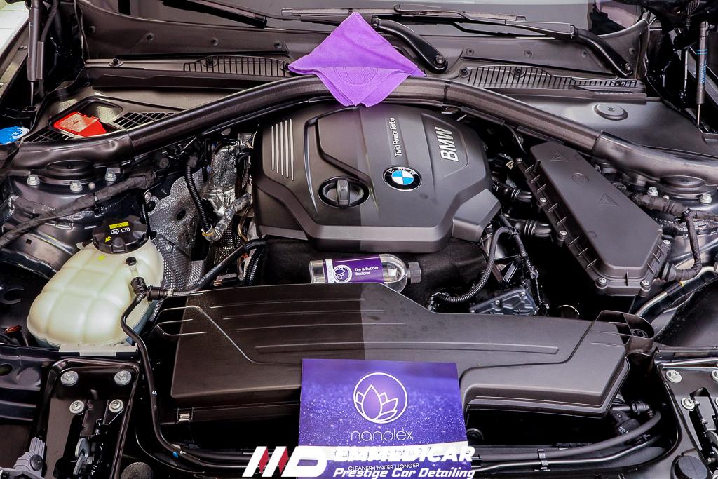 BMW SERIE 1 120d, ravvivante plastiche vano motre auto,
