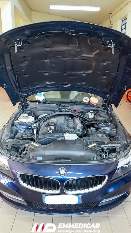 BMW Z4 ROADSTER,lavaggio motore auto,