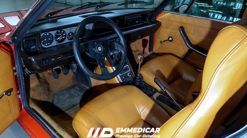 FIAT X1/9, igienizzazione auto torino,