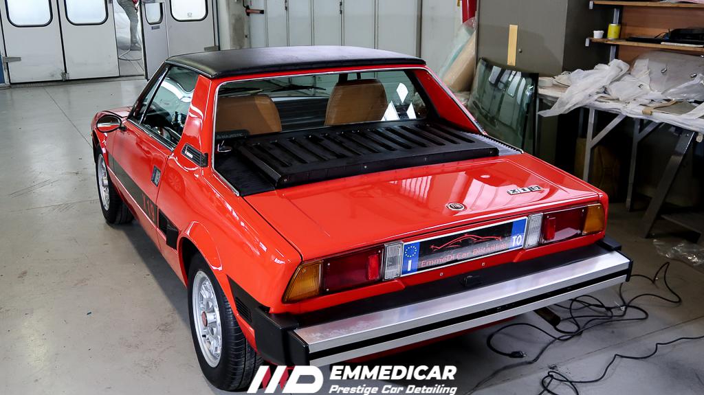 FIAT X1/9, risultato dopo car detailing