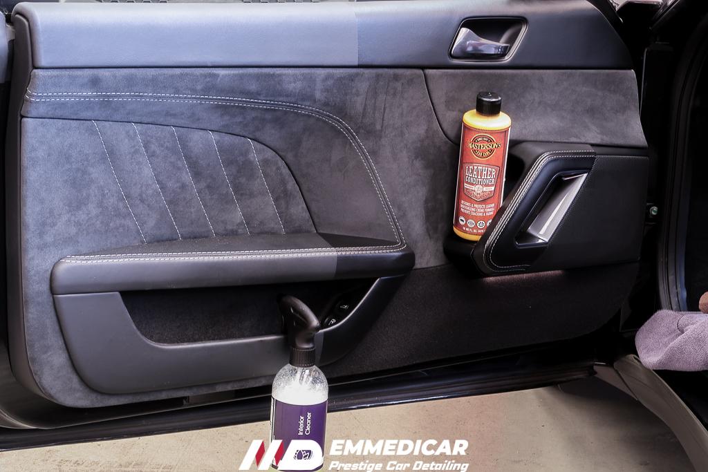 LOTUS EVORA 400, pulizia pelle auto,