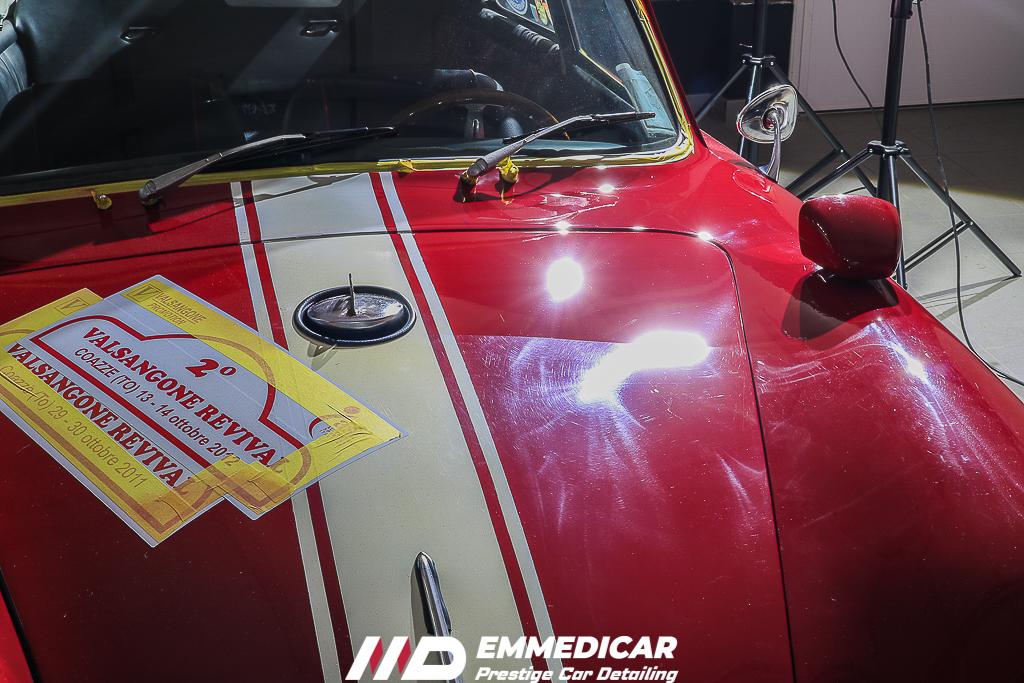 PORSCHE 356 A, lucidatura auto