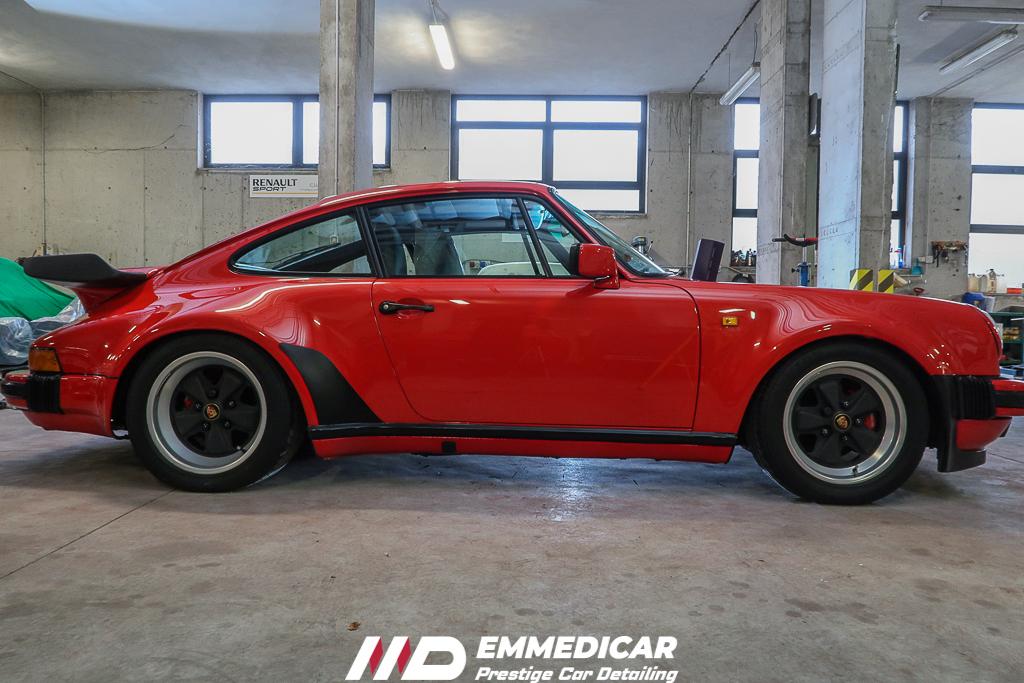 PORSCHE 911 930 TURBO, risultato dopo car detailing,
