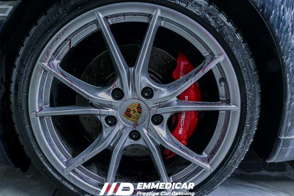 PORSCHE 911 CARRERA S, decontaminazione iron remover cerchi