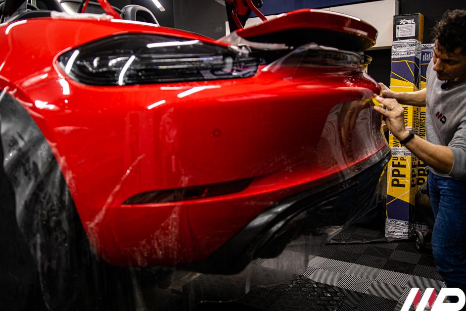 Porsche 718 Spyder car detailing