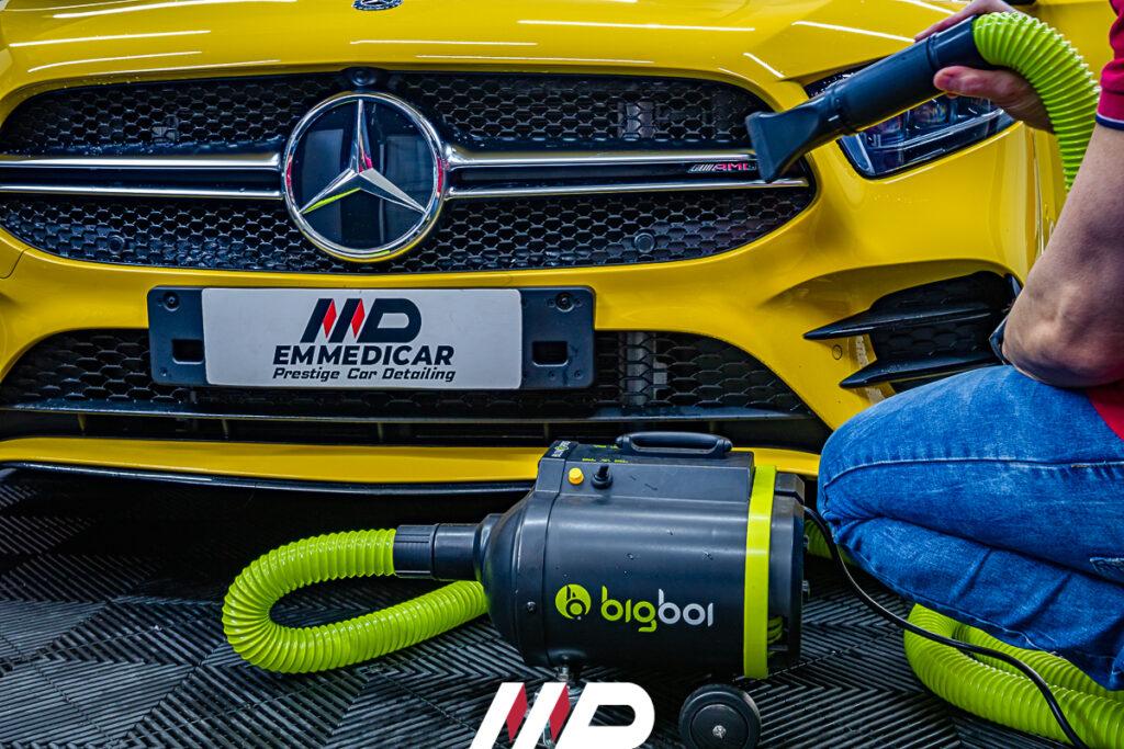 asciugatura professionale su Mercedes Classe A 35 AMG